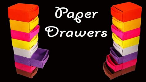 How To Make Paper Drawers - how to make beautiful and colorful paper drawers hd