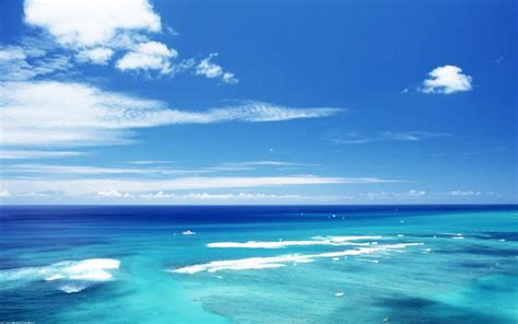 download wallpaper laut biru gambar foto pemandangan laut langit biru pernik dunia