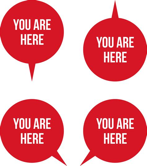 You Are Here clipart quot you are here quot pointers