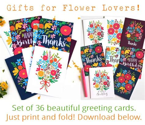 make your own printable greeting cards for free paint watercolor flowers in 15 minutes
