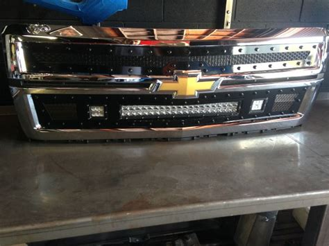 Led Grill Light Bar Olb 2014 15 Chevrolet 1500 Silverado Led Light Bar Grille Inserts