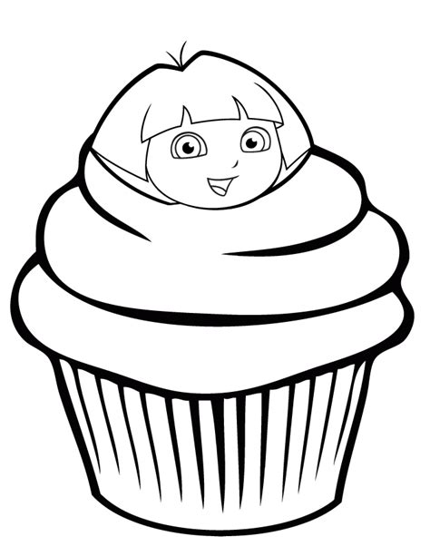 Pumpkin Halloween Cupcakes - dora the explorer colotring pages
