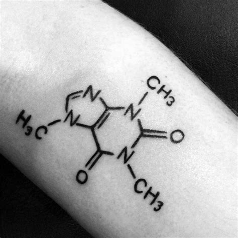 chemical structure tattoo 80 chemistry tattoos for physical science design ideas
