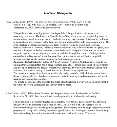 free apa bibliography template 17 free annotated bibliography templates pdf word doc