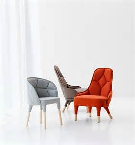design chairs elegantly connected emma and emily padded chair designs