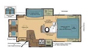 slide in cer floor plans eagle cap luxury truck cer model 1200