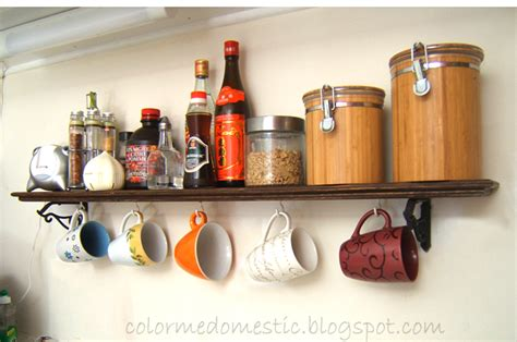 Mug Shelf Kitchen color me domestic kitchen mug shelf