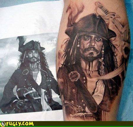 pirates of the caribbean tattoos design sparrow