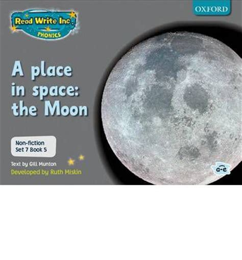 A Place Moon Read Write Inc Phonics Non Fiction Set 7 Grey A Place In Space The Moon Book 5 Gill