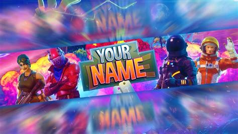 Fortnite Free Channel Art Banner Template Photoshop Doovi Fortnite Banner Template