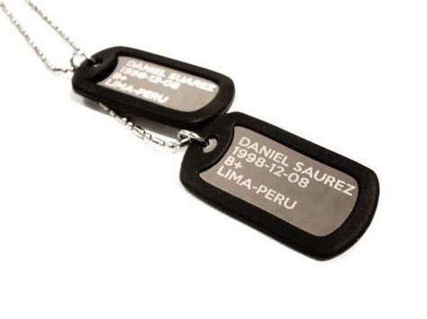 cadenas con chapas militares chapas militares personalizadas