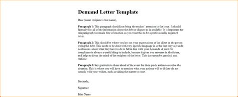 Demand Letter By Attorney Sle letter of demand template car 28 images what is a