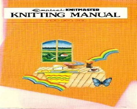 knitting machine manual pdf knitting machine manuals