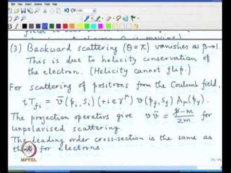 mott cross section mod 03 lec 36 mott cross section compton scattering youtube