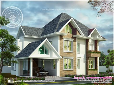european style house european model house construction in kerala kerala home