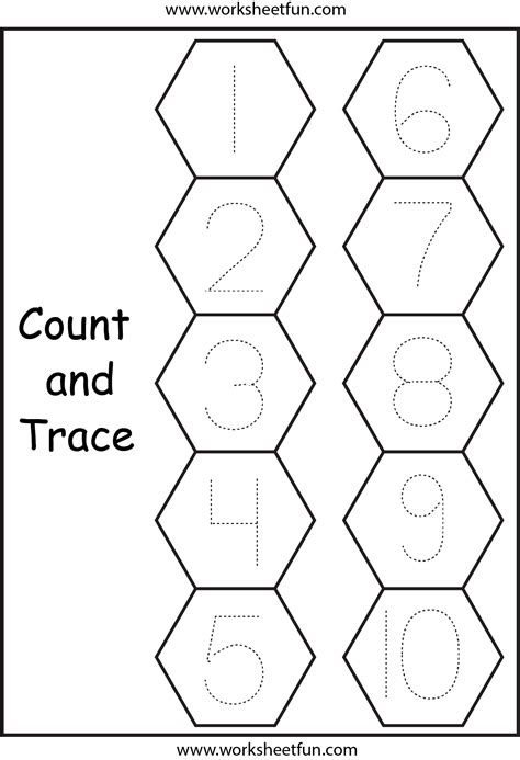 Tracing Numbers 1 10 Worksheets Kindergarten by Tracing Numbers 1 10 Worksheet Free Images