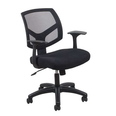 desk chair with arms swivel mesh task chair with arms black