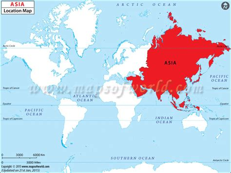 location of asia in world map where is asia asia location in world map
