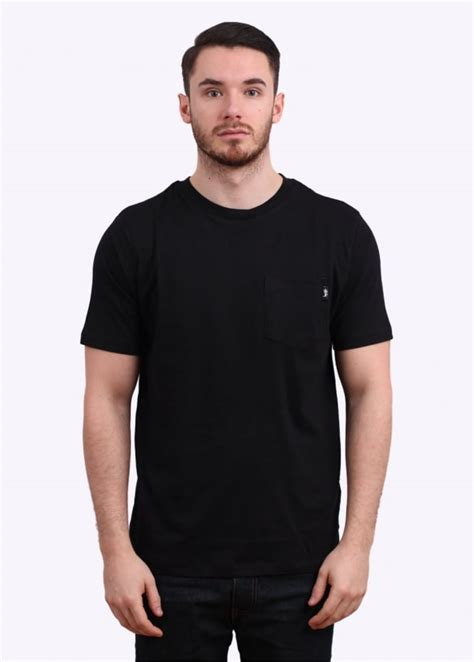 Kaos Tshirt Pocket Stussy Premium stussy original stock pocket black