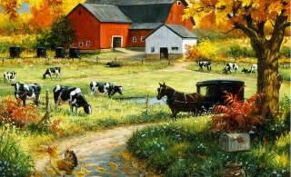 Farm Wall Mural Cow Farm Wallpaper Images