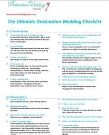 untitled checklist for destination wedding