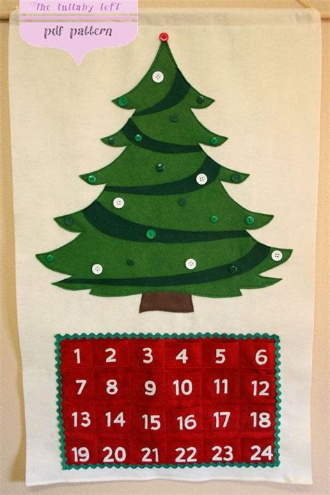 pattern for advent christmas tree calendar christmas tree advent calendar 29 ornaments pattern