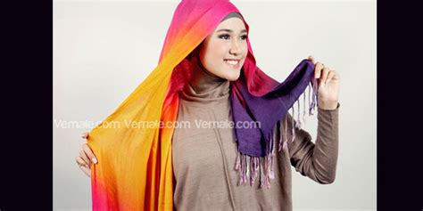 Jarum Pentul Ruspin Jilbab Unik 1 cara pake cara memakai jilbab pashmina pelangi kombinasi headband