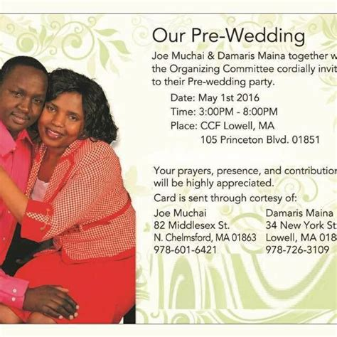 Pre Wedding Invitation Card
