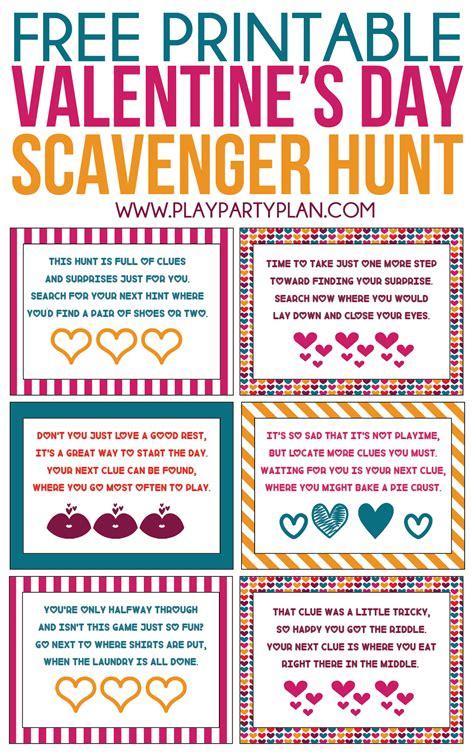 s day scavenger hunt for boyfriend free printable s day scavenger hunt