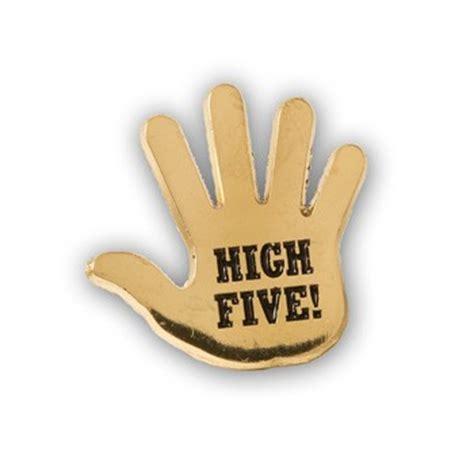 high five lapel pins (10/set)