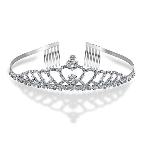 Gift Box For Moment Tiara Aksa Keterilan silver plated echoing rhinestone bridal crown tiara