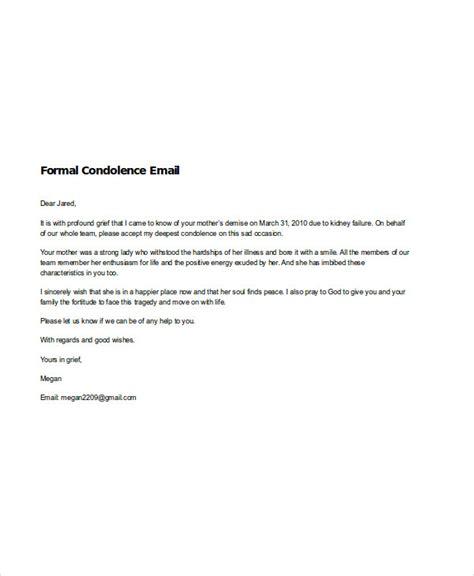 6 condolence email exles sles doc