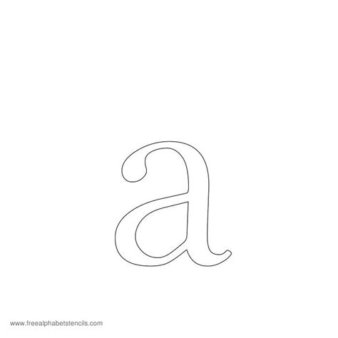 Printable Upper And Lowercase Letter Stencils | uppercase lowercase alphabet stencils
