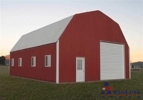 barn style gambrel barn steel building