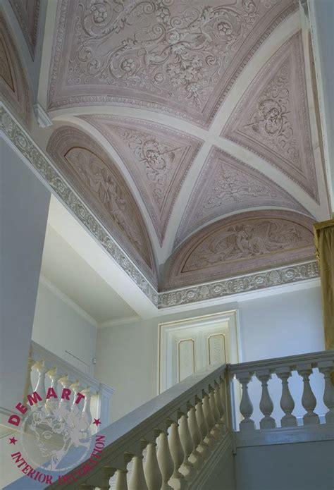 soffitti a volte decorazione pareti e soffitto per ingresso scala e camere
