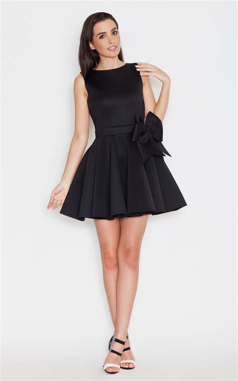 Richelle Dress Big Bow 9 black big bow dress silkfred