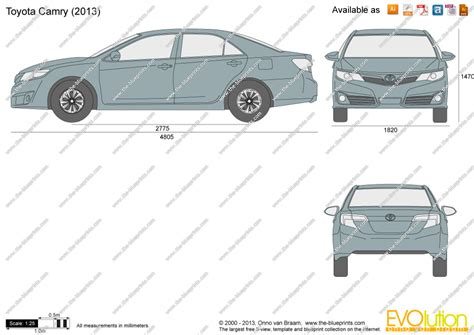 Toyota Camry Size The Blueprints Vector Drawing Toyota Camry Xv50