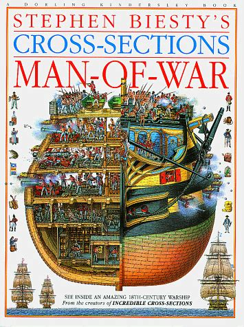 man sections stephen biestys cross sections man of war boat and ship