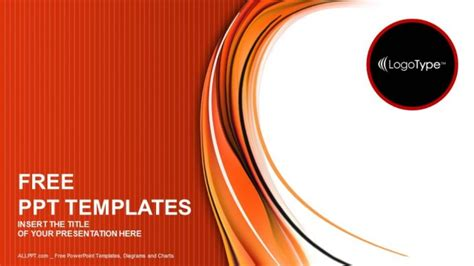 ppt templates free download orange red and orange abstract powerpoint templates