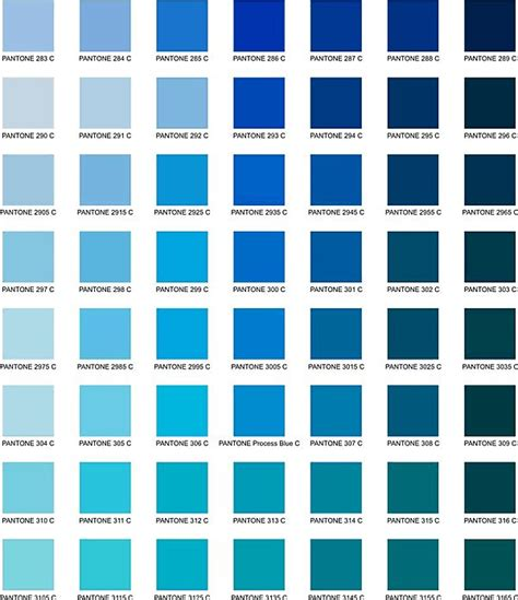pantone color chart fifty shades of teal turquoise aqua blue