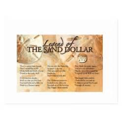 The legend of the sand dollar post card zazzle