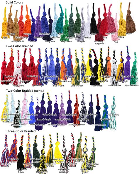 Types Of Mba School Cords by Graduation Cord Colors Meanings Honor Cord Colors