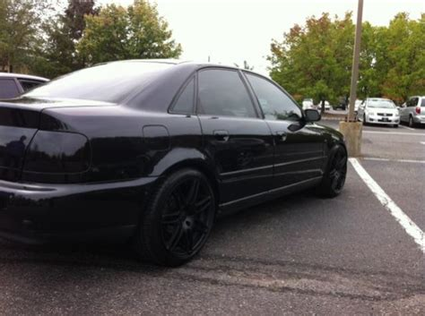 murdered out audi a4 2001 black audi a4 1 8t chipped murdered out ect 6500