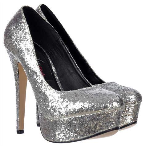 Gliter Heels shoekandi sparkly glitter stiletto platform heels