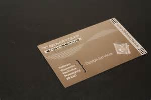 laser cut metal business cards studio sky7 nyc webdesign software development