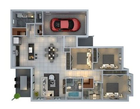 casa 3d plano de casa en 3d