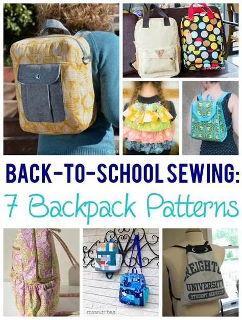 7 Bags For Back To School by Backpack Patterns Back To School Basics 7 Backpack Sewing