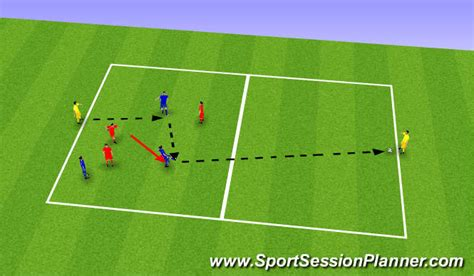 setting drills for one person football soccer forward passing small sided games beginner