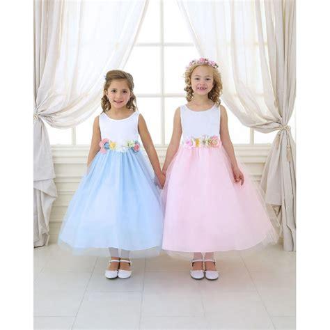 Pastel Organza satin organza pastel colours flower dress