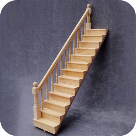 dolls house staircases 1 12 diy miniature doll house dollhouse furniture wooden stairs left side handrail